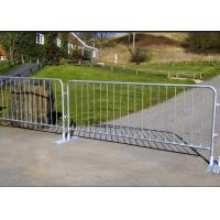 Buy cheap Silver Color Temporary Security Fence Panels , Portable Crowd Control Barriers product