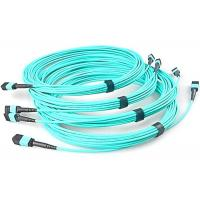 Buy cheap Fiber Optical MTP MPO Patch Cable , Blue 8 Core Multimode Fiber Optic Cable product