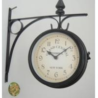 China Double Side Metal Wall Clock / Wall Clock European Creative Fashion Retro Watch Clocks Home Decor Unique Gifts on sale