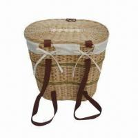 Buy cheap Backpack Basket with Two Long Belts, Large Storage Basket, Lining and Lids product