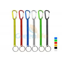 Buy cheap Plastic Spiral Cord Wire Fishing Tool Holder With Colored Carabiner / Split Ring from wholesalers