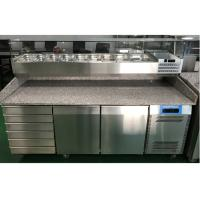 Buy cheap 2 Door and 6 Drawer Commercial Refrigerated Pizza Prep Table With Marble Table Top from wholesalers