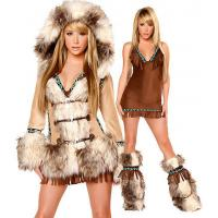Buy cheap Sexy Eskimo Sexy Womens Halloween Costumes With Coat / Dress / Legwarmers product