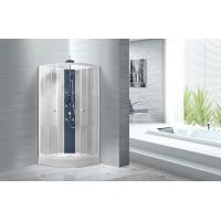 Buy cheap Popular White ABS Tray Corner Shower Stalls , Circle Quadrant Shower Cabin product