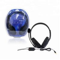 China Black Play Gaming Accessories PS4 Headphone Earphone With Volume Control on sale