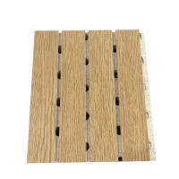 Buy cheap Wooden Laminated Grooved Sound Absorbing Board Restaurant Decorative MDF Wall Panel from wholesalers
