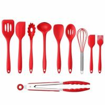 Buy cheap 10PCS Premium Amazon Top Seller Cooking Set Heat-Resistant Flexible Kitchen Tools Gadgets Silicone Kitchen Utensil product