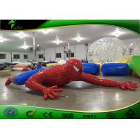 Buy cheap Amusement Park Red Cartoon Inflatable Spider Man / Inflatable Yard Toys product