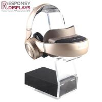 China Cheap Wholesale Cool Black and Clear Acrylic Headphone Advertising Stands on sale