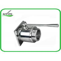 China Sanitary Hygienic Flanged Ball Valve Size DN15 To 200 For Red Wind Tanks on sale