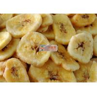 China Natural Sweet Freeze Dried Banana Chips No Added Sugar Longer Shelf Life on sale