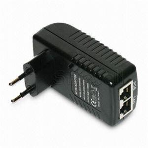 Buy cheap Wall Mounted 48V 0.5A POE Adapter EU / US / plug 24W AC Power Adapter RJ45 product