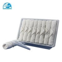 Buy cheap disposable cotton airline oshibori hot and cold towel for flight airplane product