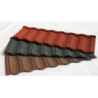 Buy cheap Wood Shingle Materials Stone Coated Metal Roof Tiles , Galvanized Stone Coated Tile product