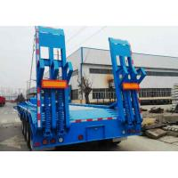 Buy cheap 4 Axle low bed semi trailer 80 ton low load trailers product