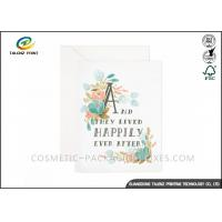 China Customized Design Paper Greeting Cards Film Lamination Coating Wedding Party Card on sale