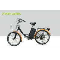 Buy cheap CE 24 Inch Pedal Assist Electric Bike , lady style E Bike 36V Brushless Motor V Brake product