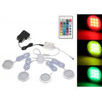 Buy cheap Dimmable Remote Control Slim Round Shape RGB LED Under Cabinet Light Kit from wholesalers