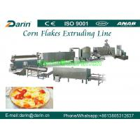 China 300 - 350kg/h Corn Flakes Processing Line , puff snack extruder Machine on sale