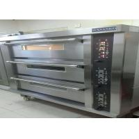 Buy cheap Stainless Steel Door Electric Baking Oven 3 Deck 15 Trays Stone Deck Oven product