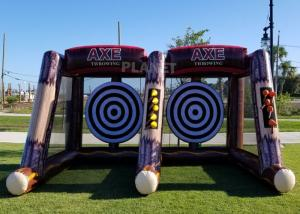 Buy cheap Flying Single / Double Size Interactive Game Inflatable Axe Throwing Carnival Game For Sale product