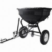 Buy cheap 125lbs Tow Behind Spreader with 12-inch Pneumatic Tire and Heavy-duty Aluminum Gear product