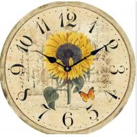 China Vintage Roman Numeral Green Antique Roman Number Metal Wall Clock Rustic mdf wall clock on sale