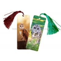 Buy cheap Eco - Friendly Kids 3D Lenticular Custom Plastic Bookmarks With 0.6mm PET For Gift / Premium product