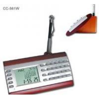 Buy cheap Desktop Digital Calendar Clcok w/ Calculator On Wood Base from wholesalers