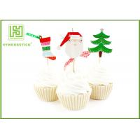 Buy cheap Flower Bakery Cake Decoration Toppers With Logo Printed Environmentally Friendly product