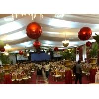 Buy cheap Christmas Decorative Ball 60cm Red PVC Inflatable Mirror Ball product