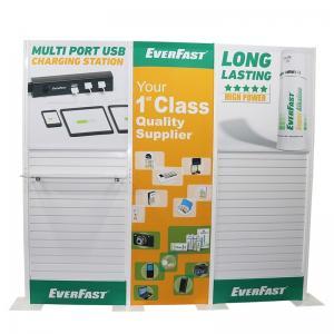 Buy cheap Plastic Slatwall Custom Tradeshow Booth With Fabric Panel Lighting Storage product
