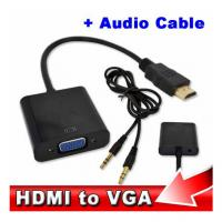 Buy cheap Wholesale HDMI to VGA with Audio Cable M/F 1080p HDMI to VGA Converter for Xbox 360 PS3 product