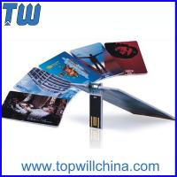 Promotion Slim Credit Card USB Flash Drive High Printing Quality