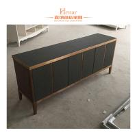Buy cheap Black Modern Console Table With Storage Drawers And Shelf , Cabinet product