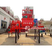 China Automatic containerized new condition js500 concrete twin shaft mixer on sale
