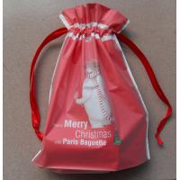 Buy cheap Recyclable drawstring plastic  Cotton Ropes  bags/Women and children all like the New Year red gift bag product