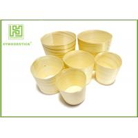 Buy cheap Promotional Unique Disposable Wooden Icecream Cups With Different Shape product