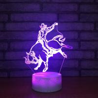 Buy cheap Acrylic 3D laser led small night light table lamp, Unique and innovative style from wholesalers