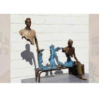 Buy cheap Life Size Casting Finish Traveler Bronze Sculpture For Garden , Bruno Catalano Sculpture product