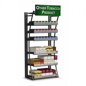 Steel Frame Cigarette Display Cabinet Overhead Cigarette Dispenser For Smoke Shop