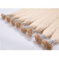Buy cheap Gold Color 20 Inch Remy Hair Extensions Steam Processed With Full Cuticle product