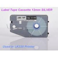 Buy cheap Ferrule lettering Label Maker Tape 12mm for electric installation , Silver product