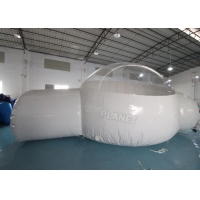 Buy cheap Half Clear 4m Dome Inflatable Bubble Lodge With Silent Blower product