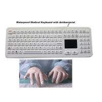 Buy cheap Medical Keyboard Silicone Hospital Rubber with Touchpad Antibacterial product