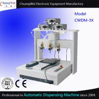 Buy cheap Three Dispensing Head Automated Dispensing Machines 0.01 Mm / Axis product