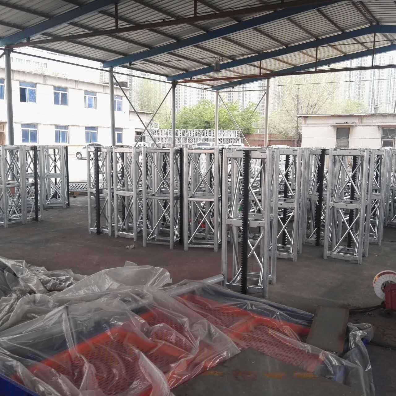 Buy cheap CE Customized Color 450 Mast Industrial Lift With Motor Power 2x15kw, 400kg Lifting Device product