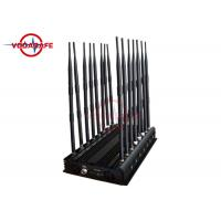 Buy cheap 16 Channels Mobile Phone Signal Jammer Adjustable Working Range High Efficiency product