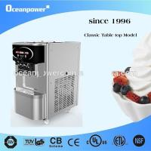 China 30L/H Table Top commercial soft ice cream Frozen yogurt Machine Oceanpower OP130S CE,CB on sale