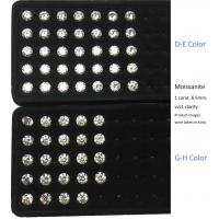 Buy cheap Laboratory vvs high quality moissanite D E F G H I color custom size round from wholesalers